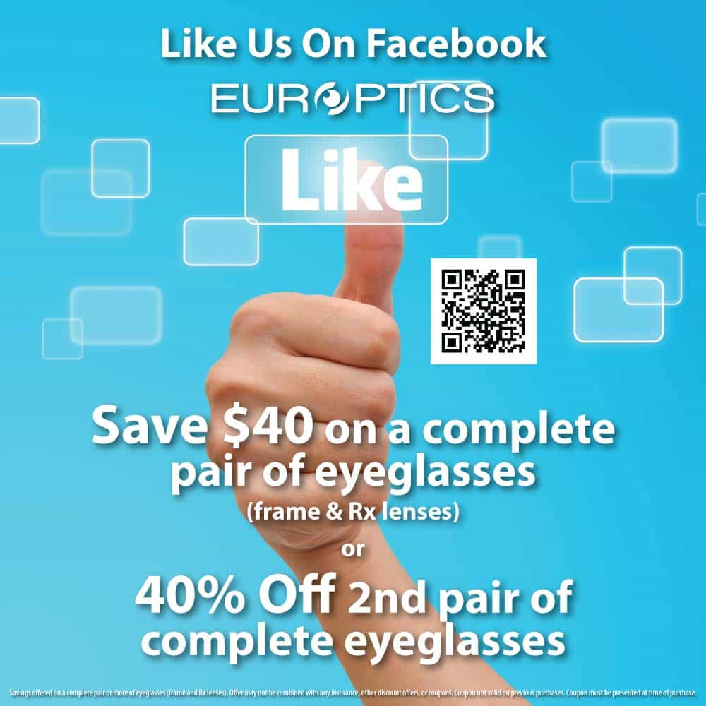 Like Europtics on Facebook and Save!