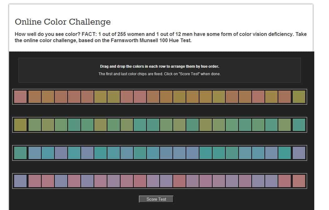 Color Test   Online Color Challenge   X Rite