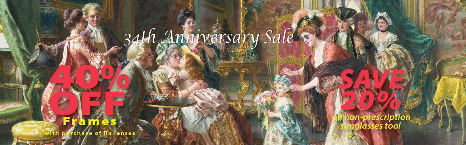 Save 40% during Europtics Anniversary Sale